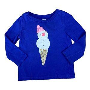 Oshkosh melting snowman/ice cream graphic tee